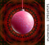 colorful glass ball on creative ... | Shutterstock .eps vector #1198169191