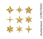 vector set of realistic golden... | Shutterstock .eps vector #1198170331