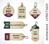 vector stickers  price tag ... | Shutterstock .eps vector #1198171624