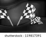 two crossed checkered flags on... | Shutterstock .eps vector #119817391