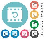 undo movie changes flat white...   Shutterstock .eps vector #1198174714