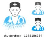 physician icon with face in... | Shutterstock .eps vector #1198186354