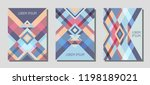 set of cover page layouts ... | Shutterstock .eps vector #1198189021