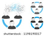 connected social members icon... | Shutterstock .eps vector #1198190017