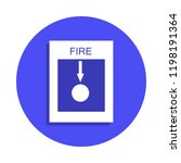 fire alarm icon in badge style. ...