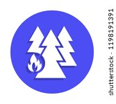 forest from fire icon in badge...