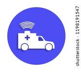 ambulance icon in badge style....