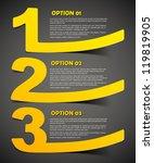 eps10  realistic design elements | Shutterstock .eps vector #119819905
