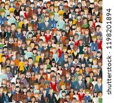 large group of people. seamless ... | Shutterstock .eps vector #1198201894