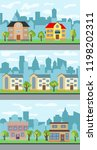 set of three vector... | Shutterstock .eps vector #1198202311