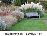 Park Bench Nestling In Various...