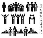 business businessman group... | Shutterstock .eps vector #119821747