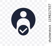 authentication transparent icon.... | Shutterstock .eps vector #1198217557