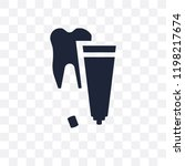 tooth paste transparent icon.... | Shutterstock .eps vector #1198217674