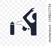 body odour transparent icon.... | Shutterstock .eps vector #1198217734