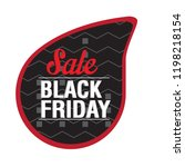 isolated black friday label.... | Shutterstock .eps vector #1198218154