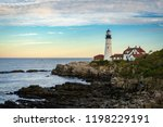 cape elizabeth lighthouse | Shutterstock . vector #1198229191