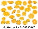 orange fruit on white... | Shutterstock . vector #1198230847