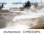 west thumb geyser basin in...   Shutterstock . vector #1198231891