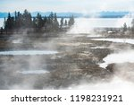 west thumb geyser basin in...   Shutterstock . vector #1198231921