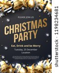 christmas party poster template ... | Shutterstock .eps vector #1198234681