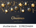 merry christmas background with ...   Shutterstock .eps vector #1198234684