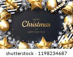 merry christmas background with ... | Shutterstock .eps vector #1198234687