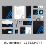 corporate identity set template ... | Shutterstock .eps vector #1198234744