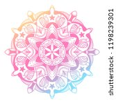 round gradient mandala on white ... | Shutterstock .eps vector #1198239301