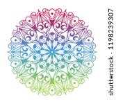 round gradient mandala on white ... | Shutterstock .eps vector #1198239307
