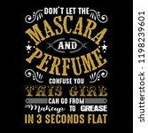 don't let the mascara. mechanic ... | Shutterstock .eps vector #1198239601