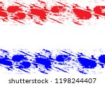 abstract splatter red and blue  ... | Shutterstock .eps vector #1198244407