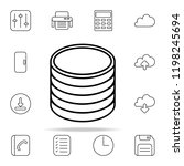 stack of coins icon. web icons... | Shutterstock .eps vector #1198245694
