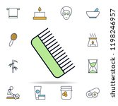 comb outline icon. spa icons... | Shutterstock .eps vector #1198246957