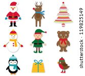 christmas design elements set ... | Shutterstock . vector #119825149