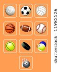 sport balls icon set | Shutterstock .eps vector #11982526