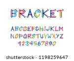 vector modern font with the... | Shutterstock .eps vector #1198259647