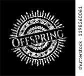 offspring written on a... | Shutterstock .eps vector #1198260061