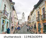 quito  ecuador 20 august  2016  ... | Shutterstock . vector #1198263094
