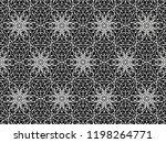 ornament with elements of black ... | Shutterstock . vector #1198264771