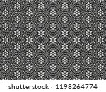 ornament with elements of black ... | Shutterstock . vector #1198264774