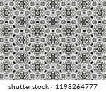 ornament with elements of black ... | Shutterstock . vector #1198264777