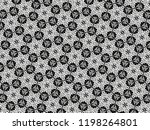 ornament with elements of black ... | Shutterstock . vector #1198264801