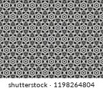 ornament with elements of black ... | Shutterstock . vector #1198264804