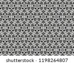 ornament with elements of black ... | Shutterstock . vector #1198264807