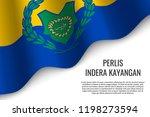 waving flag of perlis indera... | Shutterstock .eps vector #1198273594