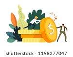 business activities and finance ... | Shutterstock .eps vector #1198277047