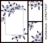 romantic wedding invitation... | Shutterstock .eps vector #1198279237