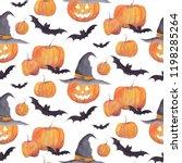Halloween Watercolor Pattern...