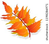leaf autumn colorful vector... | Shutterstock .eps vector #1198286971